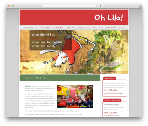 Oh Lila! WordPress theme - ohlila.org.uk