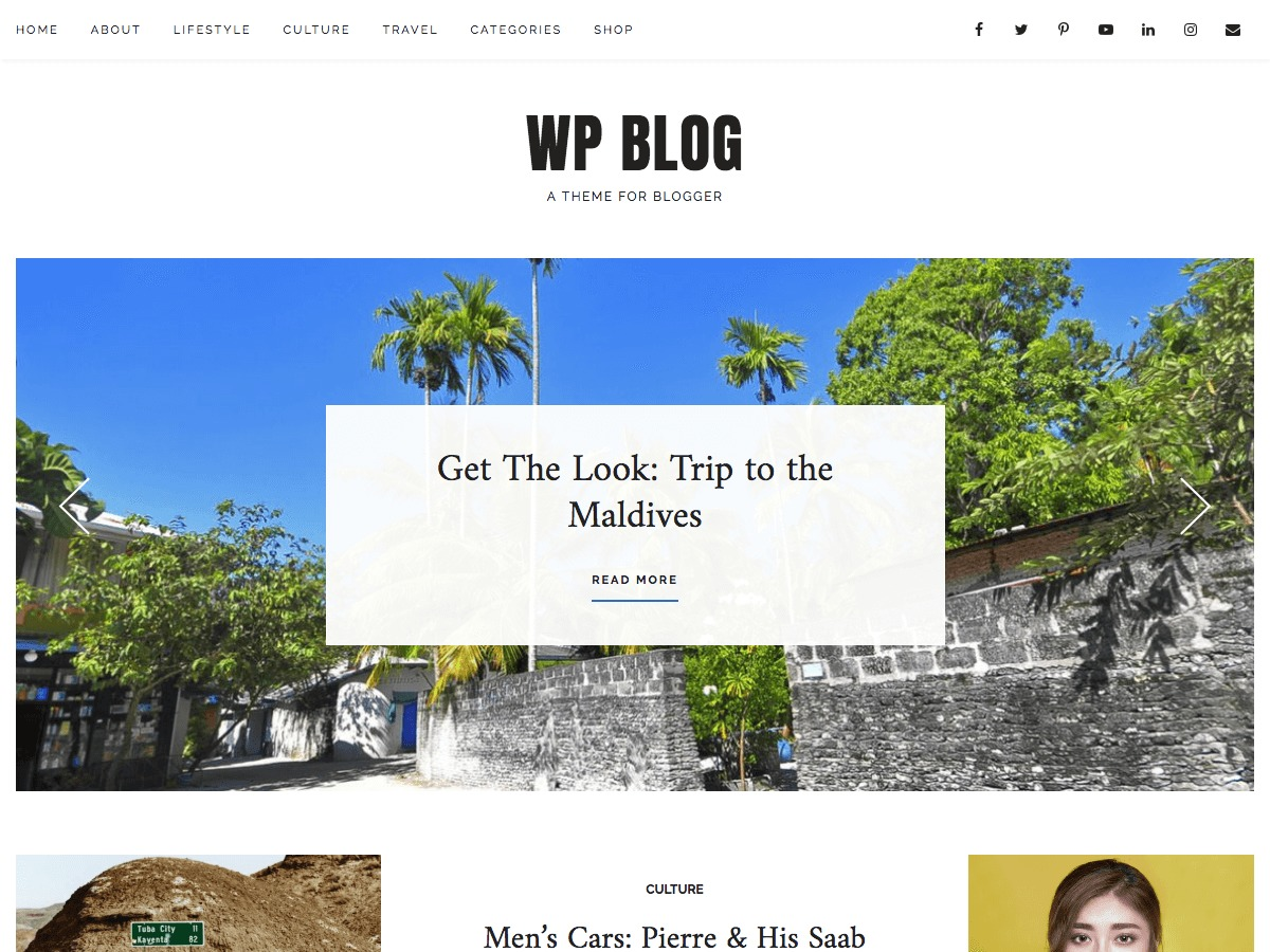 WP Blog WordPress blog template