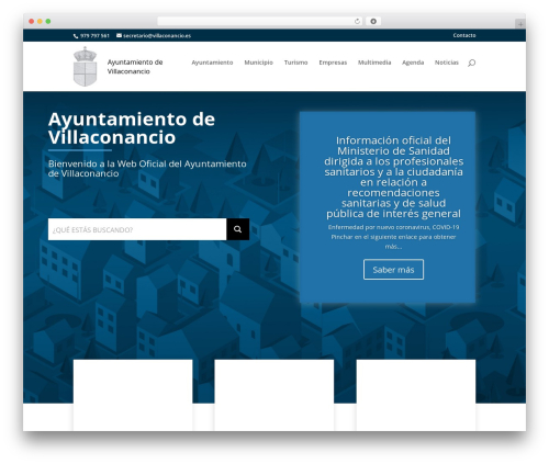 Best WordPress template Municipios de la Diputación de Palencia | Estilo base - villaconancio.es