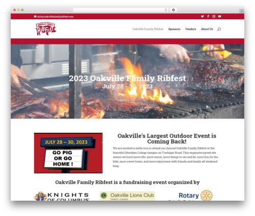 Divi template WordPress - oakvillefamilyribfest.com