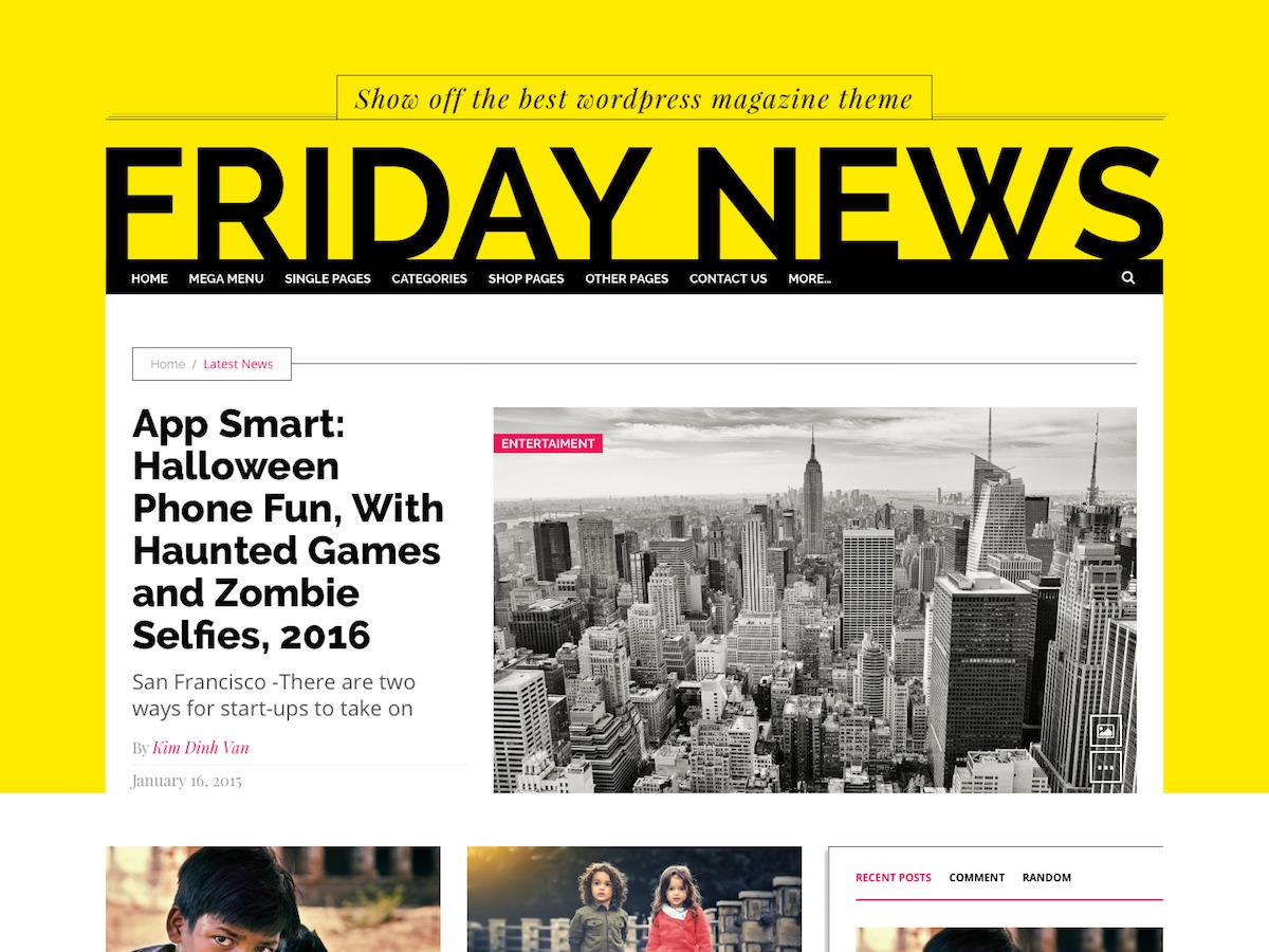 Friday News Lite WordPress news template