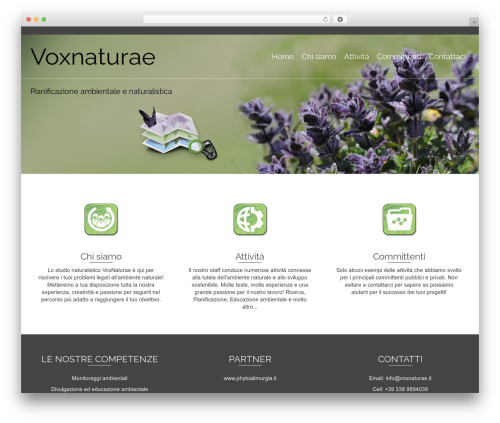 Pinnacle WordPress theme - voxnaturae.it