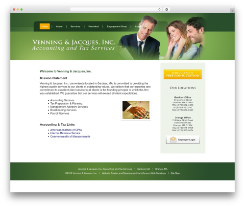 Weaver II WordPress template for business - vjtax.com