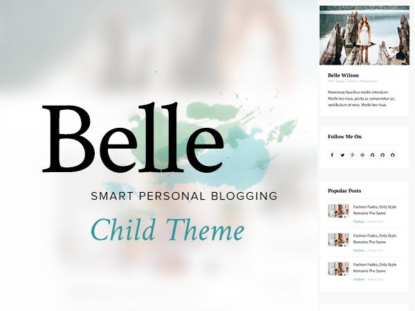 WordPress website template Belle Child Theme