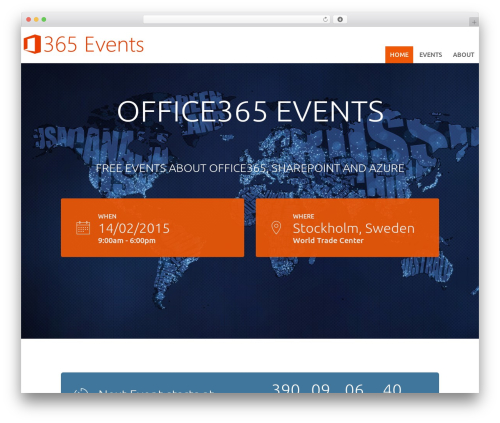 Best WordPress template Tyler - o365.events