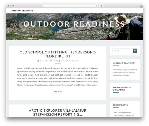 Nisarg WordPress template free - outdoorreadiness.com