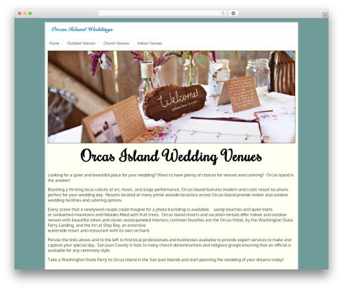 Orcas Online Ads best wedding WordPress theme - orcasislandweddings.info