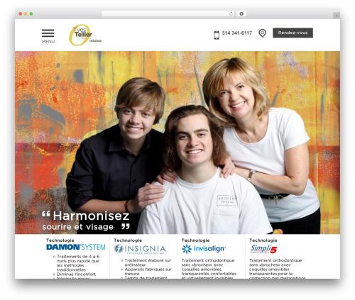 PloggMedia best WordPress theme - orthodontistetellier.com