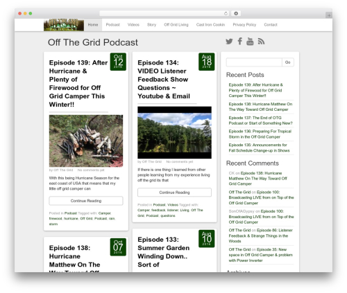 Social Magazine WordPress theme - offthegrid.tips