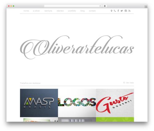 BLANK Theme template WordPress - oliverartelucas.com.br