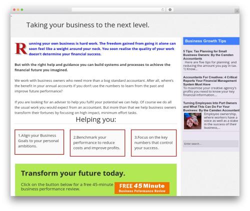 Optima business WordPress theme - optimasupport.com