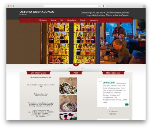 The Restaurant WordPress restaurant theme - ombralonga.de