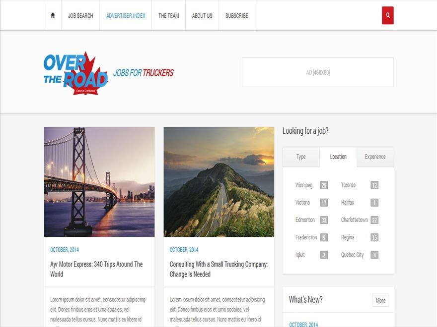 Theme WordPress OverTheRoad