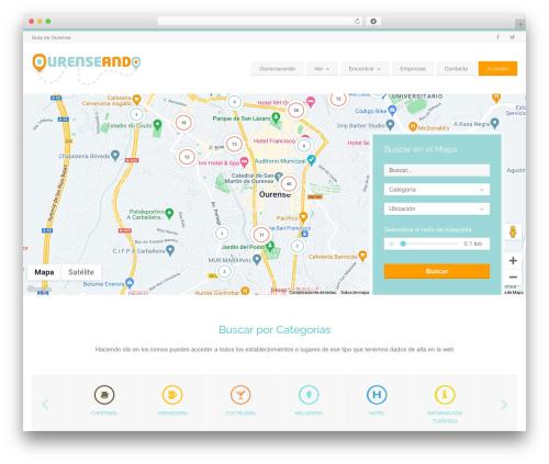 WordPress theme BusinessFinder+ - ourenseando.es