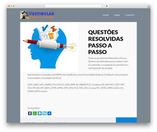 Best WordPress theme Author Pro - vestibularpassoapasso.com.br