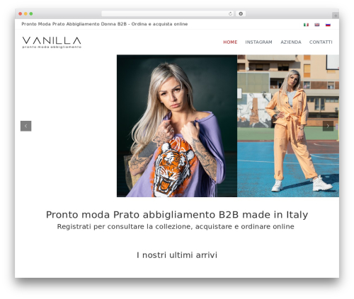 Flash free WordPress theme - vanilla.it