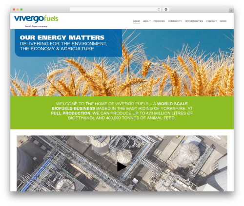 Jupiter best WordPress template - vivergofuels.com