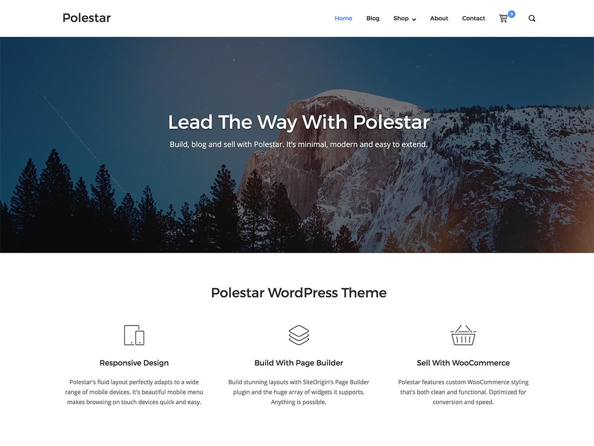Polestar Child Theme WordPress shopping theme