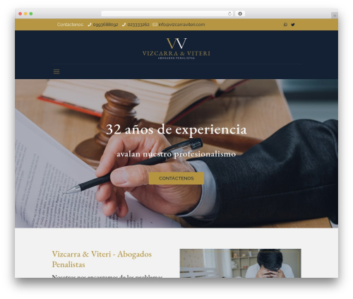 Betheme business WordPress theme - vizcarraviteri.com