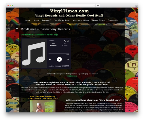 Black Label theme WordPress - vinyltimes.com