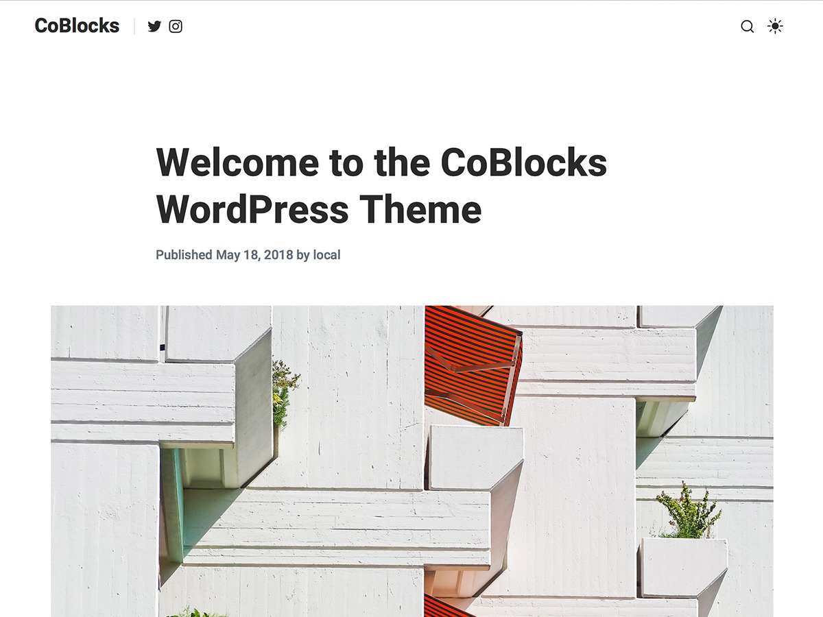 CoBlocks premium WordPress theme