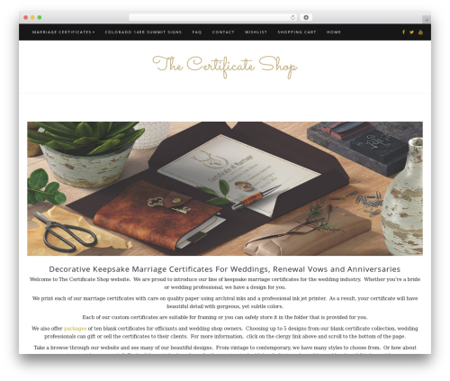 Di Blog WordPress theme - thecertificateshop.com