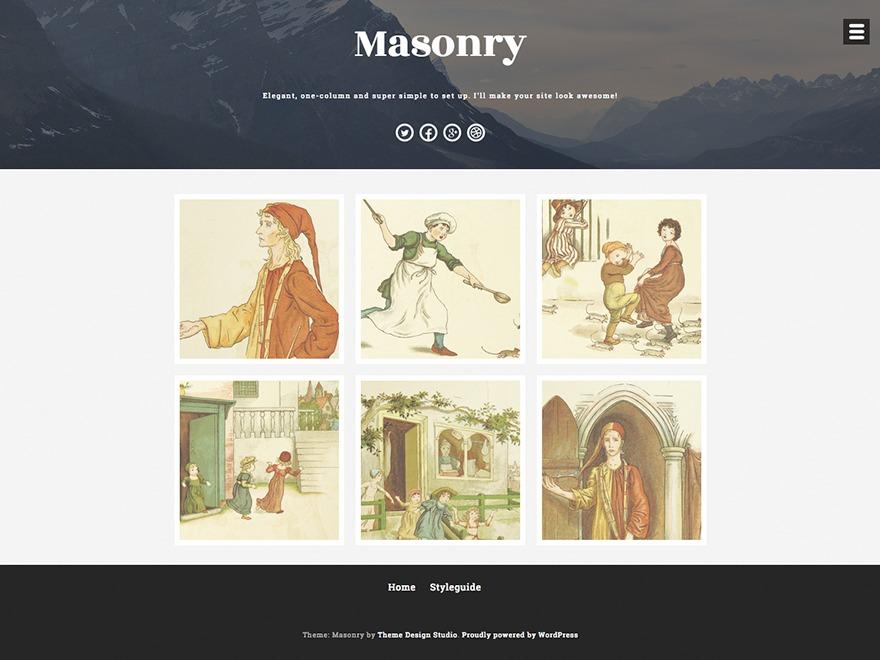 Masonry Child WordPress template