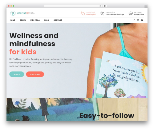 Shopscape WP theme - amazingmeyoga.com