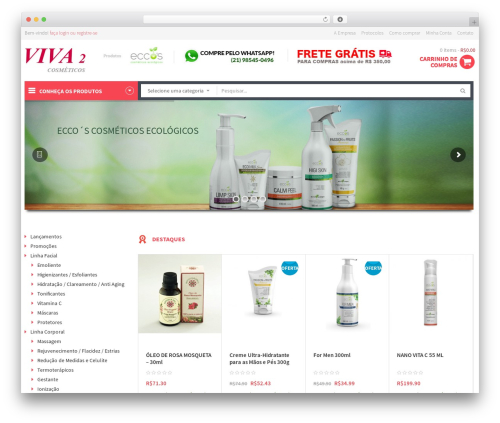 Theme WordPress WPO Shopping - viva2.com.br