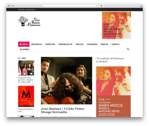 WordPress theme Bloom - vivepasionflamenca.com