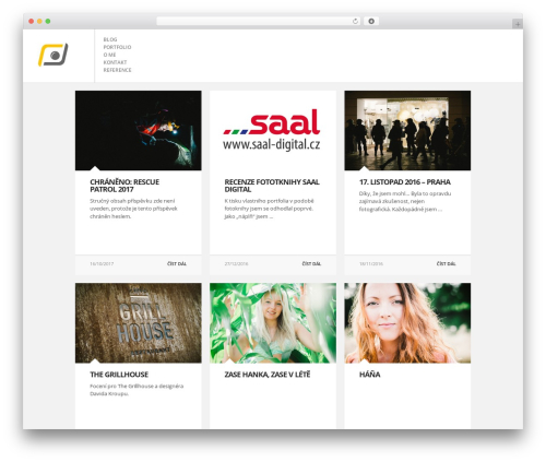 WordPress website template FULLSCREEN - vosalik.cz