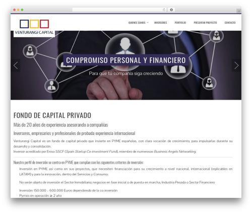 WordPress website template Total - venturangi.com