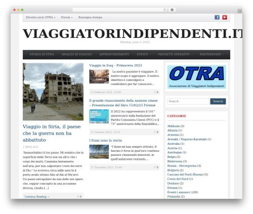 WordPress website template Tribune Theme - viaggiatorindipendenti.it