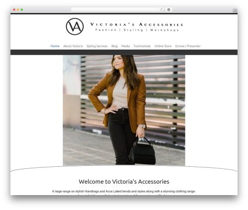 Celestial fashion WordPress theme - victoriasaccessories.com.au
