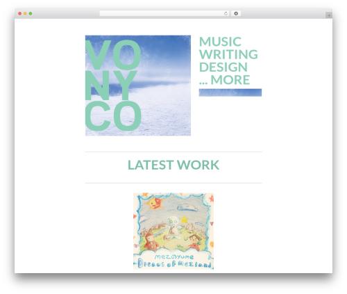 Lyretail WordPress theme design - vonyco.com