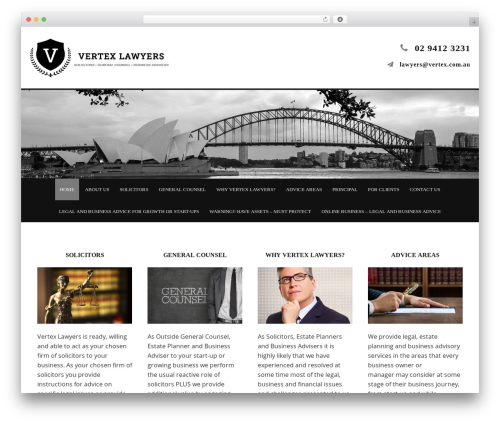 Minimum Pro Child 001 business WordPress theme - vertex.com.au