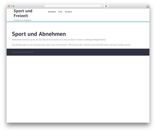 VW Medical Care medical WordPress theme - ohne-speck.de