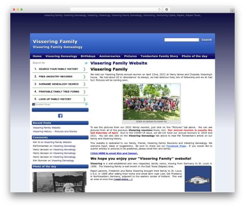 WordPress theme Deep Blue (HMT Pro Skin) - visseringfamily.com
