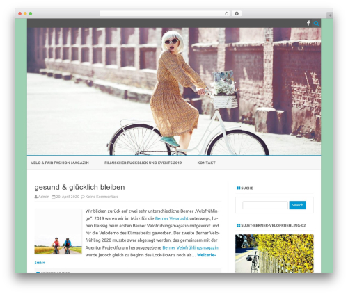 ZeroGravity best free WordPress theme - velofashion.ch