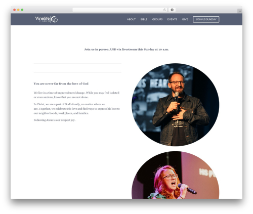 Divi theme WordPress - vinelife.com