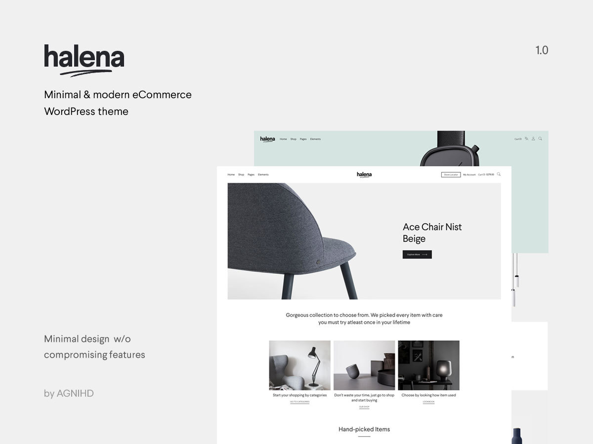 Halena WordPress ecommerce template