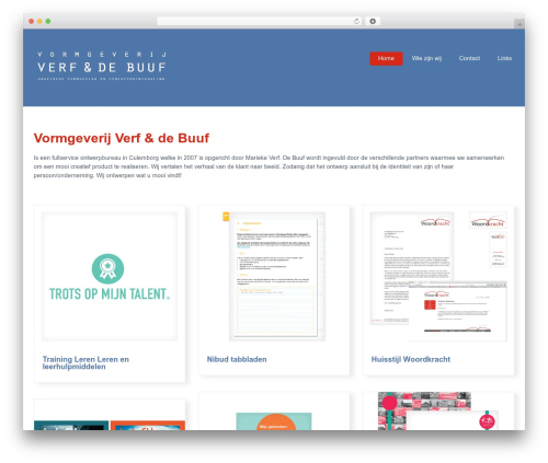 Klasik WordPress theme - verfendebuuf.nl
