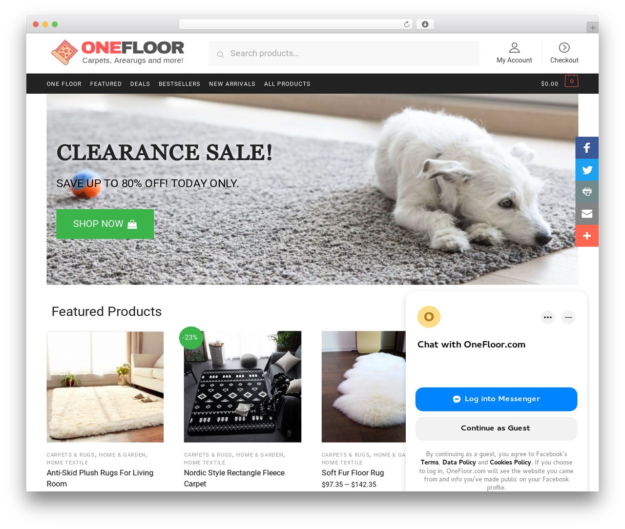 Shoptimizer WordPress store theme - onefloor.com