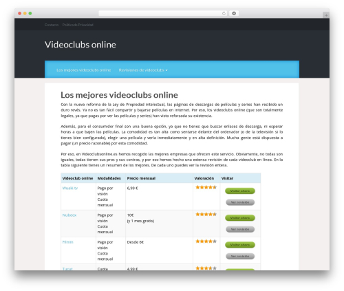 Theme WordPress Reviewgine Affiliate - videoclubsonline.es