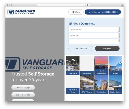 Vanguard Storage Theme WordPress Examples