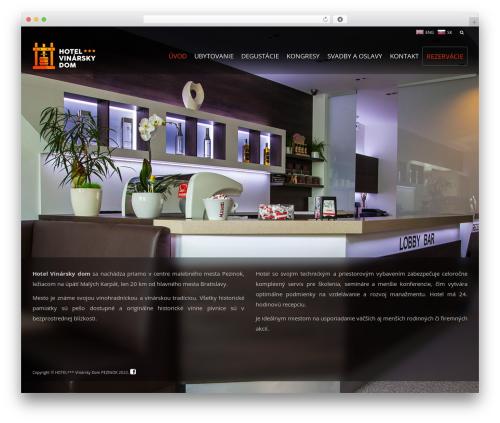 WordPress template Pinnacle - vinarskydom.sk