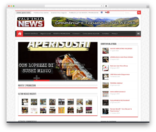 WordPress theme Sahifa (shared on wplocker.com) - valdenzanews.it