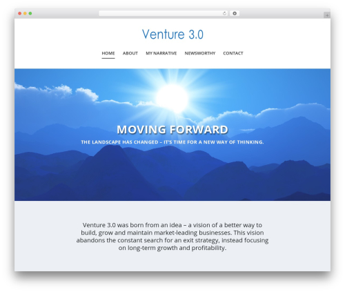 WordPress website template Extra - venture30.com