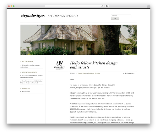 Chateau WordPress template - vivpodesigns.com