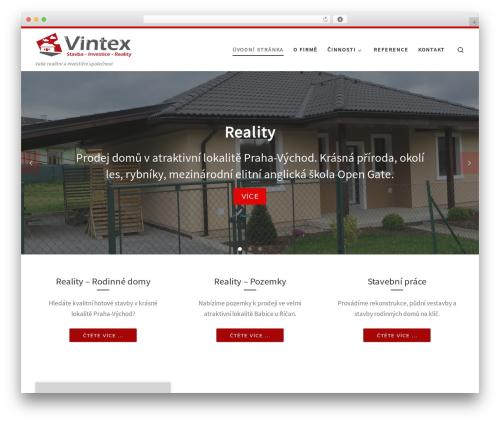 Customizr free WordPress theme - vintex.cz